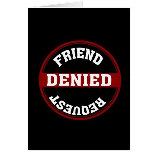 Petición divertida del amigo negada tarjeton