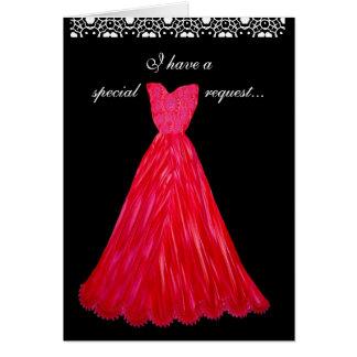 PETICIÓN ESPECIAL - vestidos del ROJO de la Tarjeta De Felicitación
