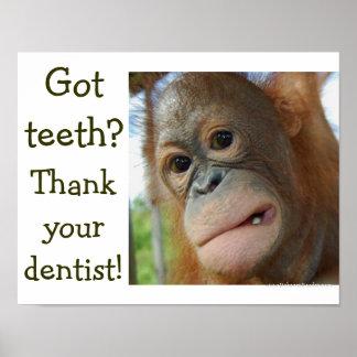 Petición Gratitud-especial del diente divertido Impresiones