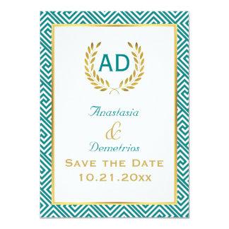 """Petición griega 1 de la guirnalda de la llave y invitación 4.5"""" x 6.25"""""""