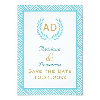 Petición griega 3 del trullo de la guirnalda de la invitación 11,4 x 15,8 cm