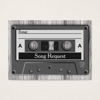 Petición retra de la canción del boda de la cinta tarjetas de visita grandes