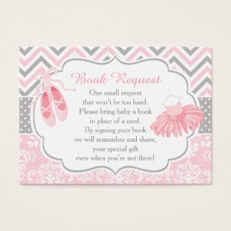 Petición rosada y gris del libro del bebé de la tarjeta de negocios