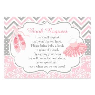Petición rosada y gris del libro del bebé de la tarjetas de visita grandes
