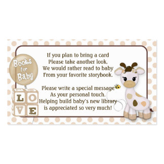 Peticiones del libro de la jirafa en vez de una tarjetas de visita