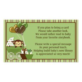 Peticiones del libro del carro v1 del mono en vez tarjetas de visita
