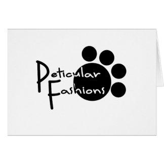 Peticular Fashions Logo Card