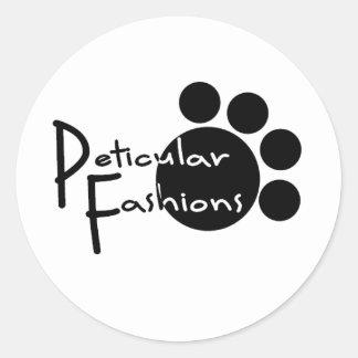 Peticular Fashions Logo Classic Round Sticker