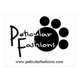 Peticular Fashions Logo Postcard
