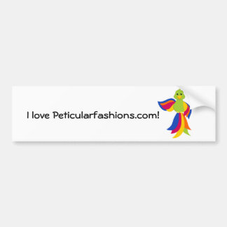 Peticular Fashions Parrot Bumper Sticker