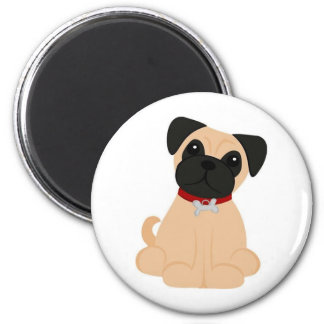 Peticular Fashions - Pug 2 Inch Round Magnet