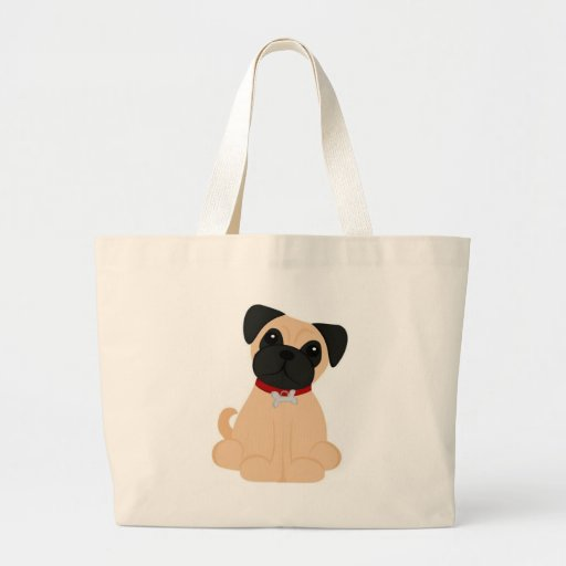 Peticular Fashions - Pug Jumbo Tote Bag
