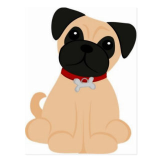 Peticular Fashions - Pug Post Card