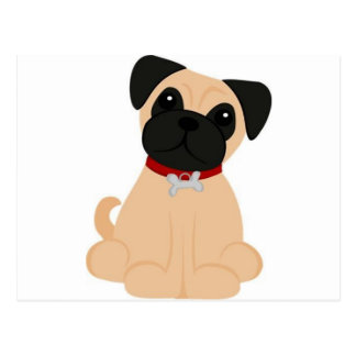 Peticular Fashions - Pug Postcard