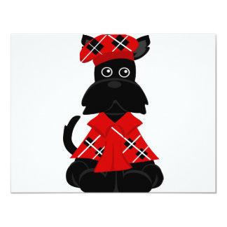 PeticularFashions.com Scottie 4.25x5.5 Paper Invitation Card