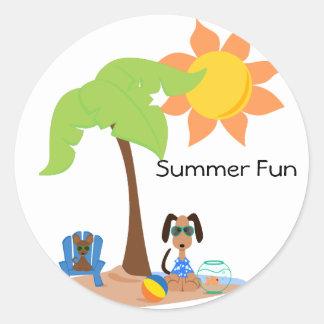 PeticularFashions SummerFun Sticket Etiquetas Redondas