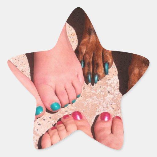 Peticure - día del balneario del Pedicure Colcomanias Forma De Estrellaes Personalizadas