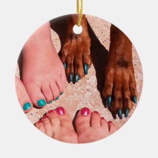 Peticure - Pedicure Spa Day Double-Sided Ceramic Round Christmas Ornament