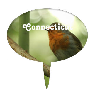 Petirrojo de Connecticut Figura De Tarta