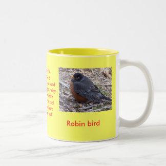PETIRROJO de la taza del amante del pájaro