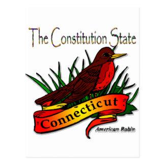 Petirrojo de las conec el estado de la constitució tarjeta postal