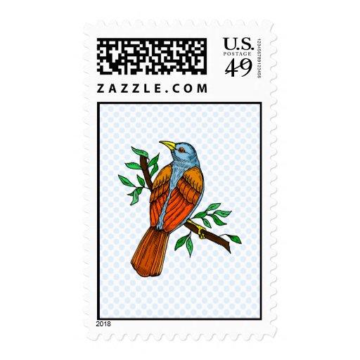 Petirrojo de Radient Sello Postal