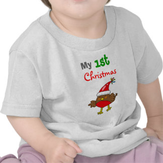 Petirrojo de Santa, mi 1r navidad Camisetas