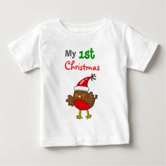 Petirrojo de Santa, mi 1r navidad Playera