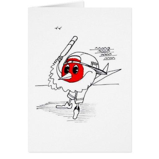 Petirrojo del béisbol tarjeta de felicitación