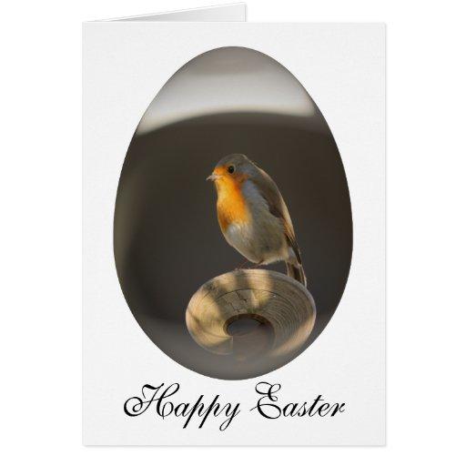 petirrojo del huevo de Pascua Tarjeta De Felicitación