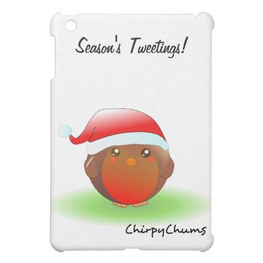 Petirrojo del navidad de los tweetings de la estac
