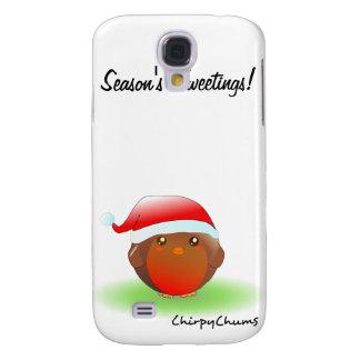 Petirrojo del navidad de los tweetings de la funda para galaxy s4