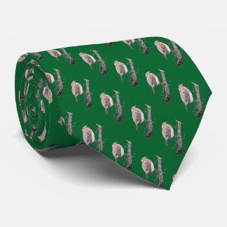 Petirrojo del navidad en el ejemplo de la rama de corbata personalizada