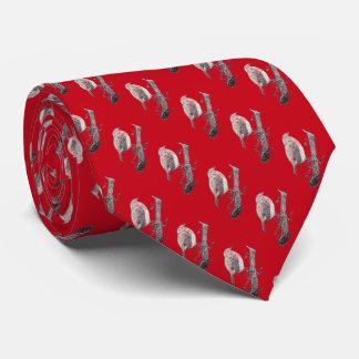 Petirrojo del navidad en el ejemplo de la rama de corbatas personalizadas