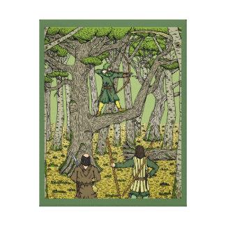 Petirrojo en Sherwood Impresión En Lienzo