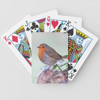 Petirrojo Redbreast en registro Baraja Cartas De Poker