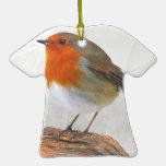 Petirrojo regordete Redbreast Ornaments Para Arbol De Navidad