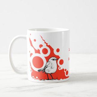 Petirrojo rojo taza clásica