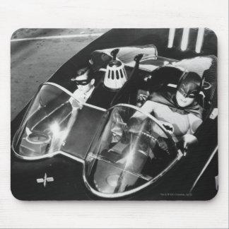 Petirrojo y Batman en Batmobile Alfombrillas De Raton