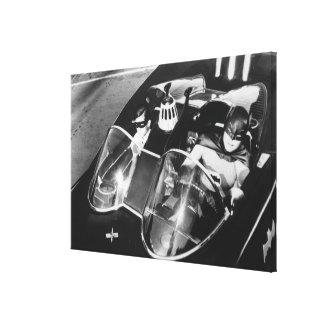 Petirrojo y Batman en Batmobile Impresiones En Lienzo Estiradas