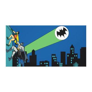 Petirrojo y subida de Batman Lona Estirada Galerías