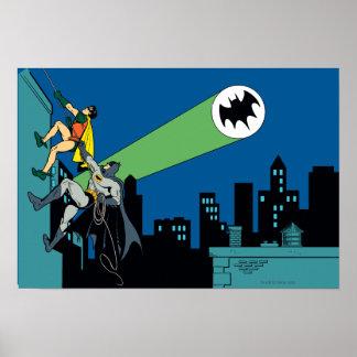 Petirrojo y subida de Batman Póster