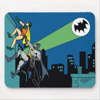 Petirrojo y subida de Batman Tapetes De Raton