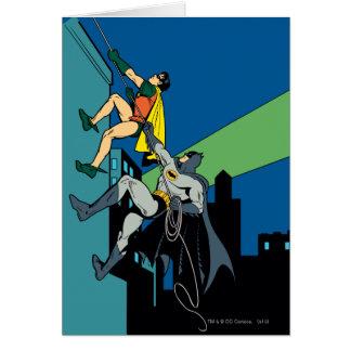 Petirrojo y subida de Batman Tarjeta De Felicitación