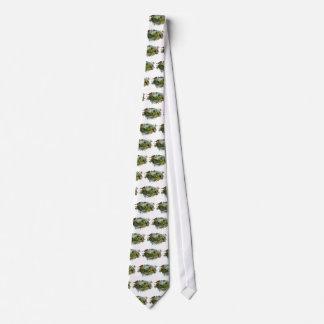 Petirrojos y nomeolvides del vintage corbata