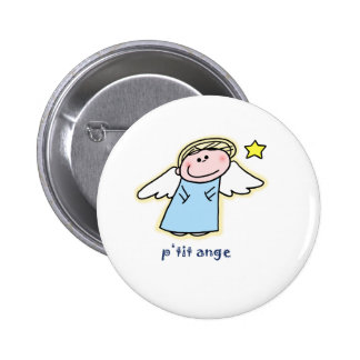 Petit Ange (little angel in French) 2 Inch Round Button