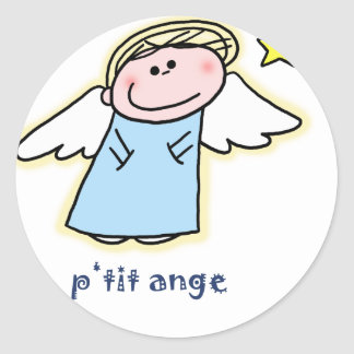 Petit Ange (little angel in French) Classic Round Sticker