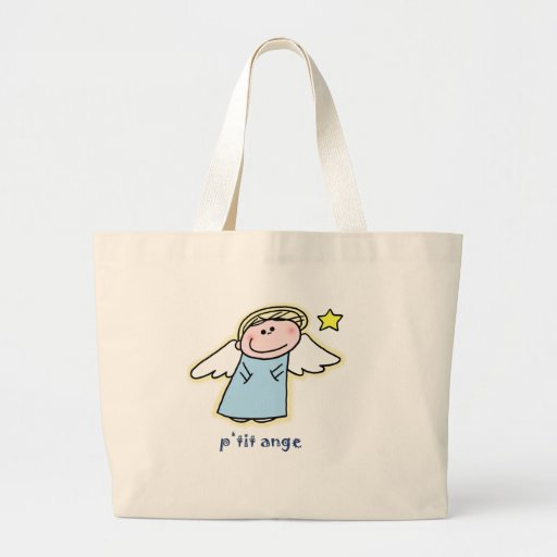 Petit Ange (little angel in French) Large Tote Bag