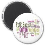 Petit Basset Griffon Vendeen 2 Inch Round Magnet