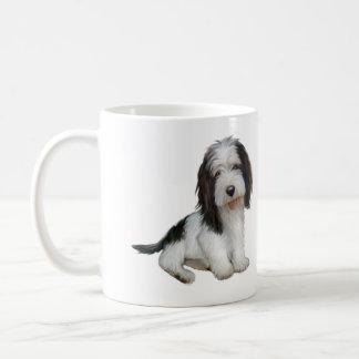 Petit Basset Griffon Vendeen (B) - Black-white sit Classic White Coffee Mug